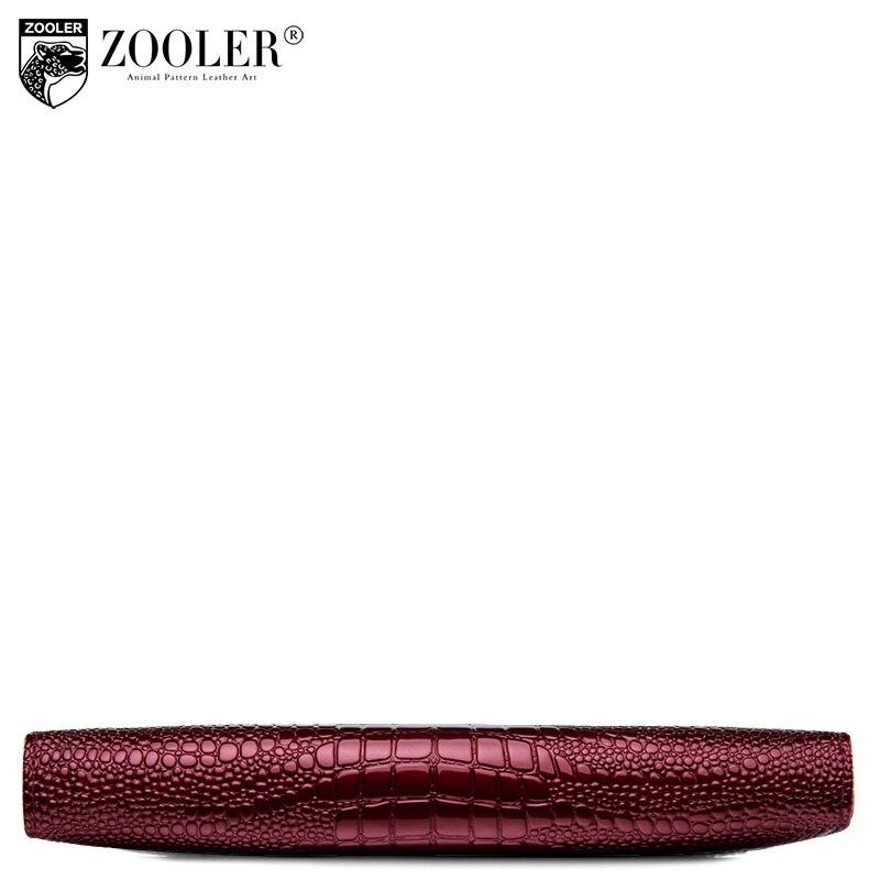 Купить с кэшбэком ZOOLER High capacity Genuine Leather Wallet Female Coin Purse Women Clutch Clamp Money Bag Card Holders Handy Perse Hot Sale