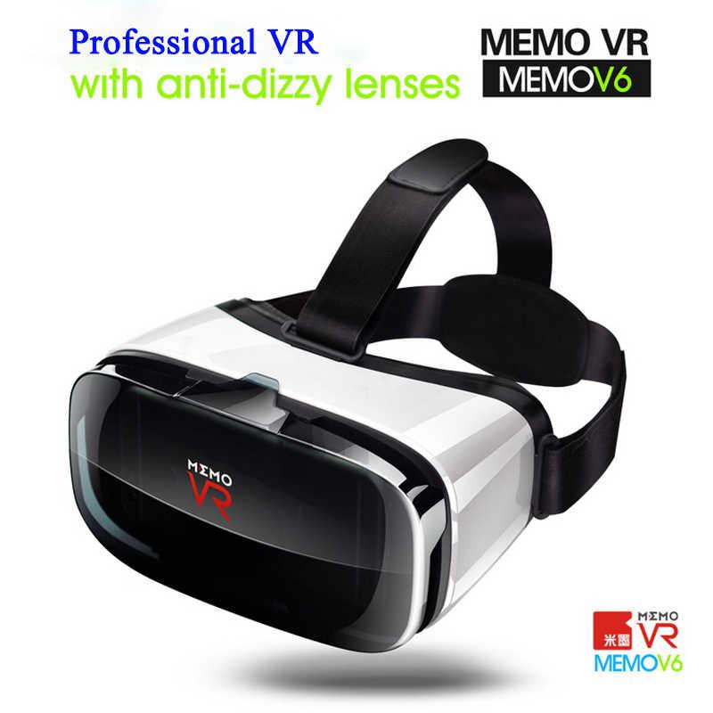 MEMO VR очки V6 3D очки Оригинальная коробка Google Cardboard VR гарнитура Очки виртуальной реальности для смартфона для Android IOS #40