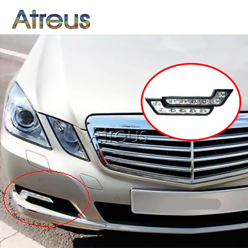 Atreus Car LED Daytime Running Lights For Mercedes W203 W211 W204 W210 Porsche 911 Cayenne For BMW E46 vw polo DRL led Fog Lamp