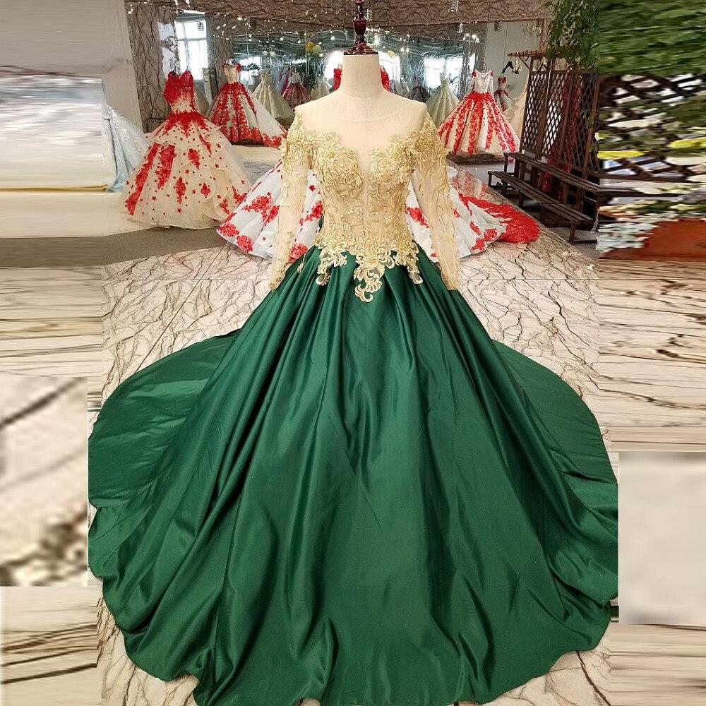 Royal Style   Evening     Dresses   Long Sleeves vestidos de festa Beaded   Evening   Gowns A Line Robe De Soiree Sheer   Evening     Dress