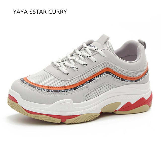 placeholder YAYA SSTAR CURRY Dad shoes 2018 spring ins super fire outdoor  ulzzang thick bottom white shoes 0e9451190