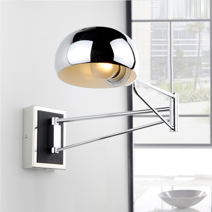 Chrome Wall Sconce Bedside Wall Fixtures Lighting For