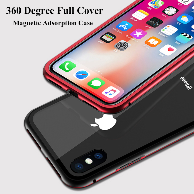 Magneto-Upgrade-Magnetic-Adsorption-case-for-iphone-X-iphone-7-8-plus-case-Dual-color-luxury (4)