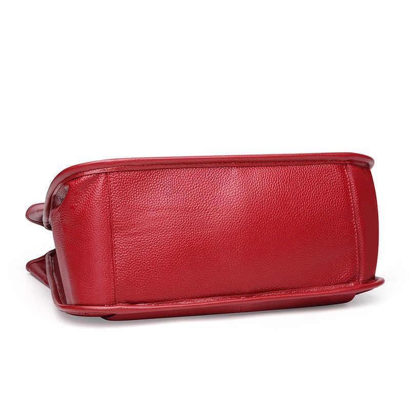Camada superior de couro pele de vaca Bolsas das senhoras sacos de compras grande capacidade bolso de telefone celular pacote de ombro das mulheres
