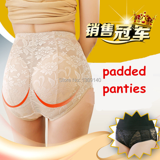 Women Padded Panties Push Up Fake Butt Pads Black Nude Brief Breathable Buttock Abundant Butt Lift Hip Free shipping