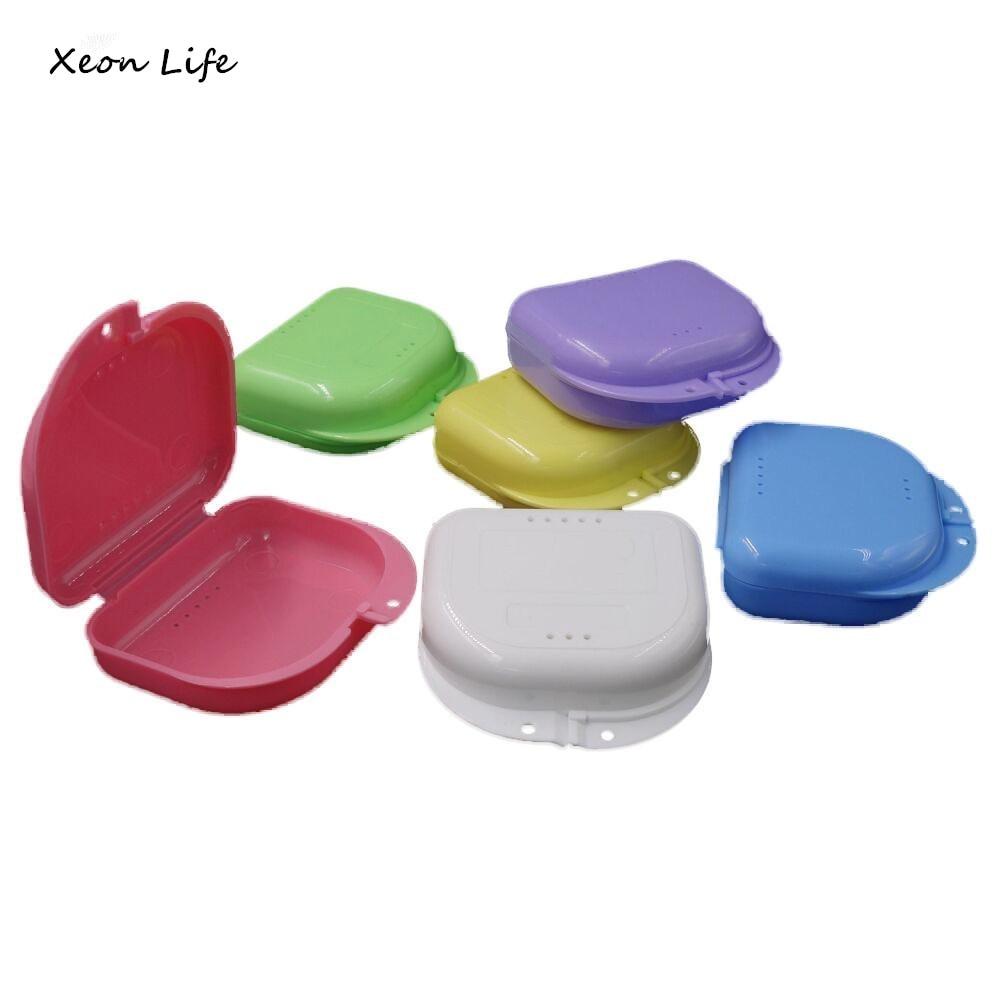 Ishowtienda Новый 1 шт. 8*8.5*2.5 см протез Для ванной Box Дело зубные накладные зубы прибор контейнер для хранения коробки протезы очиститель