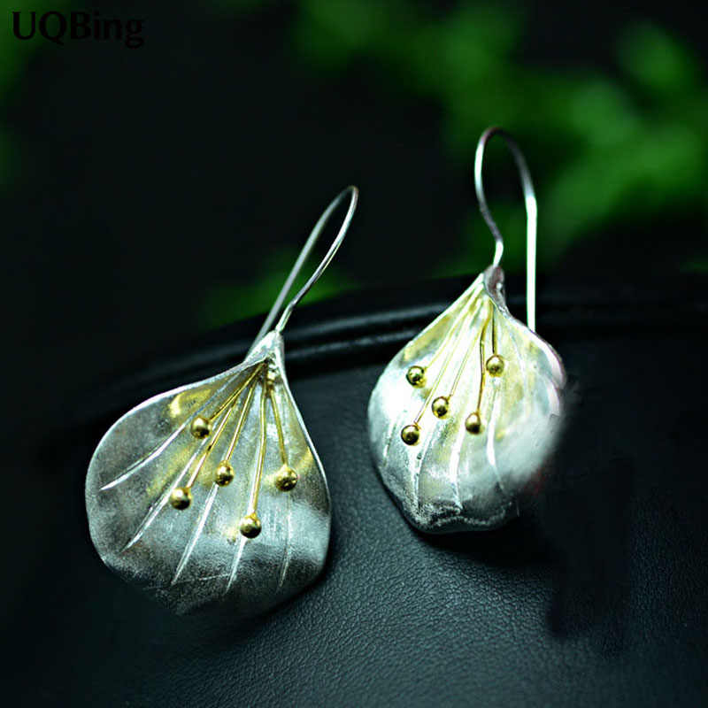 Latest New Style Fashion 925 Sterling Silver Flower Drop Earrings Jewelry Pendientes Brincos Fashion Jewelry