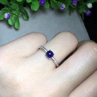 2017 Кольца QI xuan_dark синий камень простой и элегантный Ring_S925 чистого серебра темно синий ring_manufacturer непосредственно продаж