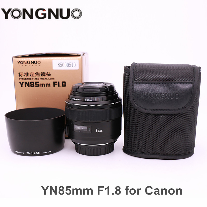 YONGNUO YN85mm F1.8 Camera Lens AF/MF Standard Medium Prime Fixed Telephoto lens for Canon EF Mount EOS 7DII 700D Rebel cameras