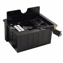 цена на Flush-mount tilt up cable connection box VGA RCA Cable Electric Slide Lid 3.5mm Audio Ports 4 EU power fuse plug Connection Box