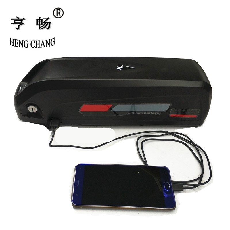 e-bike battery 48v 12.5ah New Hailong lithium ion battery pack with USB charger EU AU RU ...