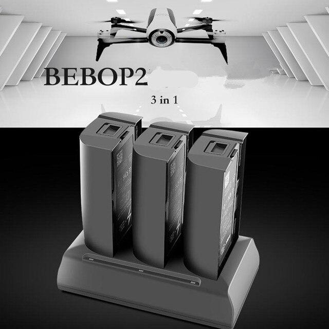Зарядное устройство для дрона 3 в 1 Parrot Bebop 2, портативное зарядное устройство с аккумулятором 12,6 В 2 А