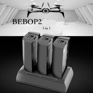 Image 1 - 3in1 Parrot Bebop 2 Drone FPV Battery Charging Hub 12.6V 2A Balancing Fast Filling Discharger Portable Otdoor Charger For Parrot
