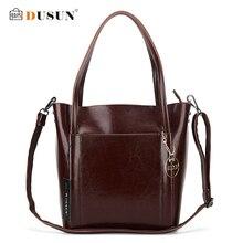 DUSUN Luxus Messenger Bags Frauen Designer Vintage Umhängetasche Damen Echtes Leder Handtasche Weiblichen Umhängetaschen Lässige Tote