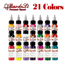 original Tattoo Inks Colors 30ml 1OZ Tattoo Pigment Inks Set 21 Colors For Body Tattoo Art Kit U-PICK each Colors Free Shipping стоимость