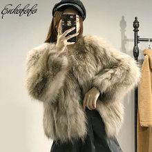 2018 New Arrival Women Winter Thick Fox Fur Fur Jacket High Quality Raccoon Fox Coat Crew