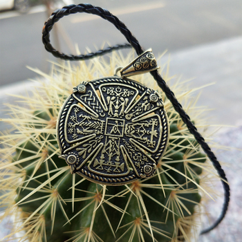 10pcs Viking Necklace Slavics Kres Power Amulet Necklace Ancient Slavonc Nordic Witchcraft Talisman Necklace image
