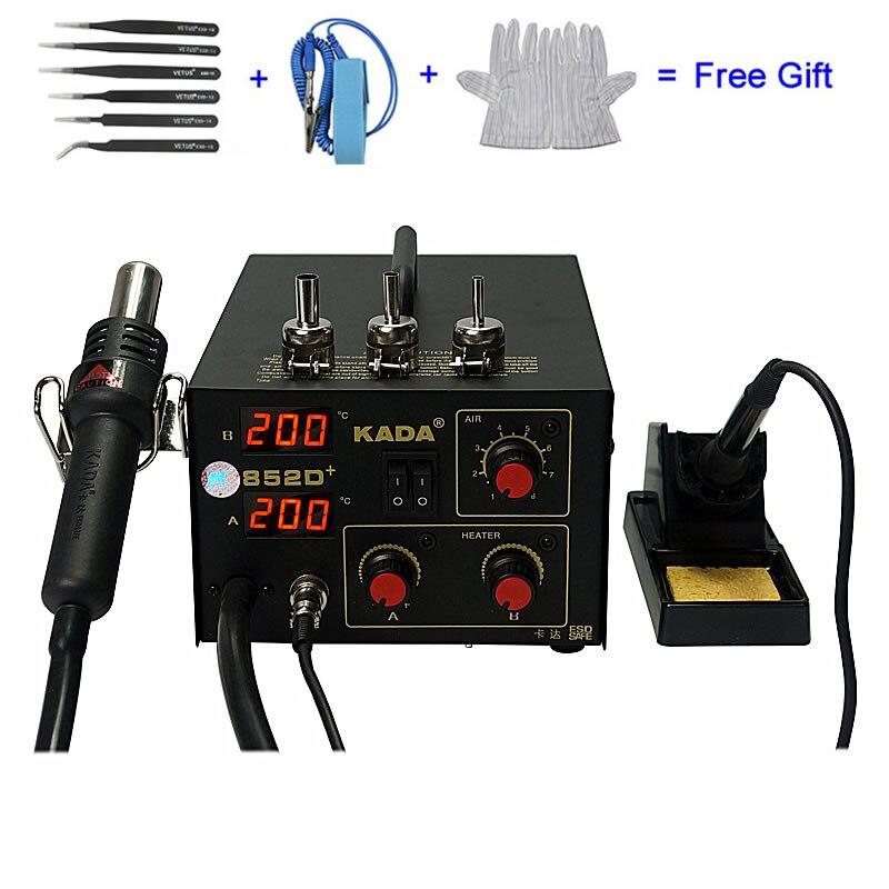 KADA 852D + SMD système de réparation BGA poste à souder pistolet à Air chaud et fer à souder 2 en 1