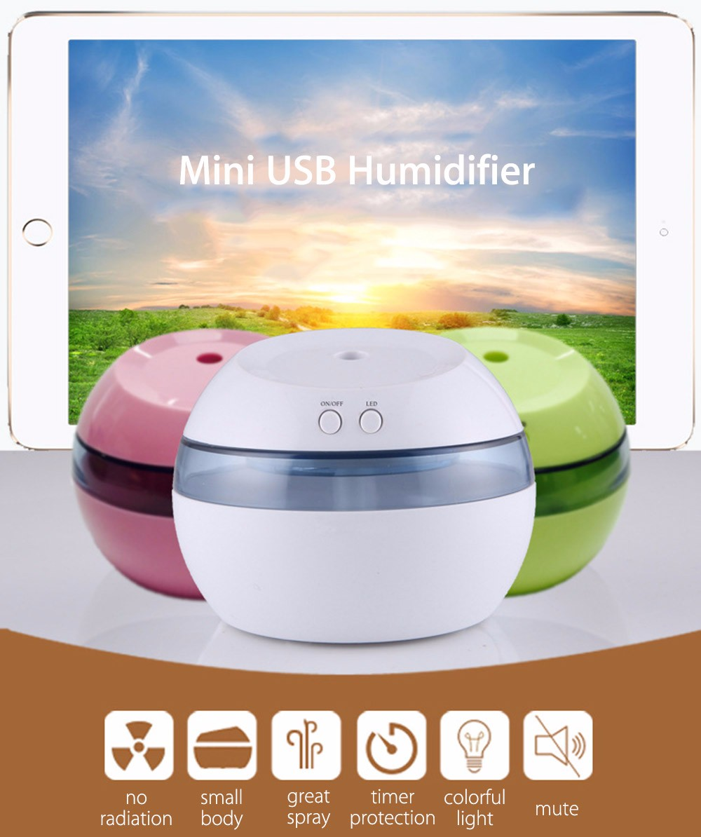 Creative Portable 5V Ultrasonic Humidifier Mini USB Air Humidifier Aromatherapy Machine LED Light Aroma Diffuser For Home Office salvador dali dali wild