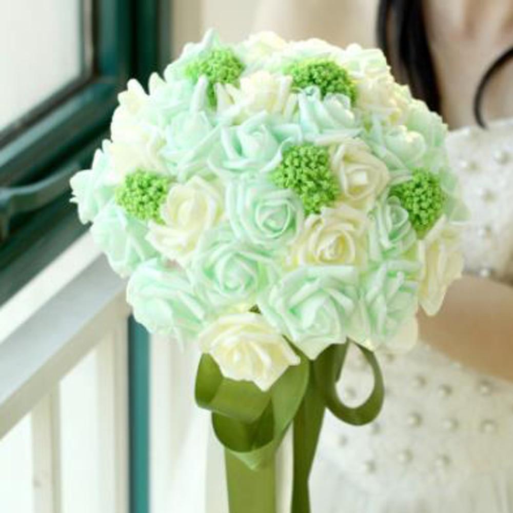 Beducht Schuim Gree Rose Bedrijf Bloemen Bruiloft Getrouwd Bruid Bedrijf Bloemen Simulatie Bloem Bevordering Van Gezondheid En Genezen Van Ziekten