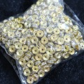 Gold color Crystal Rhinestone 6mm 8mm 10mm Rondelle Spacer Beads 500pcs/pack  Jewelry Makings B847