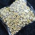Oro color Crystal Rhinestone 6mm 8mm 10mm Rondelle Espaciador de Los Granos 500 Joyería Ingredientes unids/pack B847
