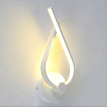 Modern Led Wall Lamp Bedroom Sconce White Indoor Lighting Ac100-265v  Light