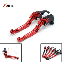 CNC Motorcycle Brake Levers Adjustable Folding Extensible Clutch With Logo CB650F For Honda CBR650F CB650F 2014
