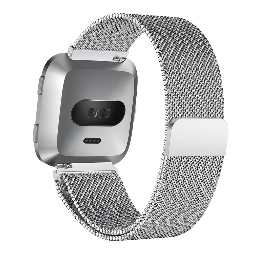 UIENIE-Stainless-Steel-Mesh-Milanese-Magnetic-Loop-Wrist-band-Strap-for-Fitbit-Versa-Smart-Watch-Straps (1)