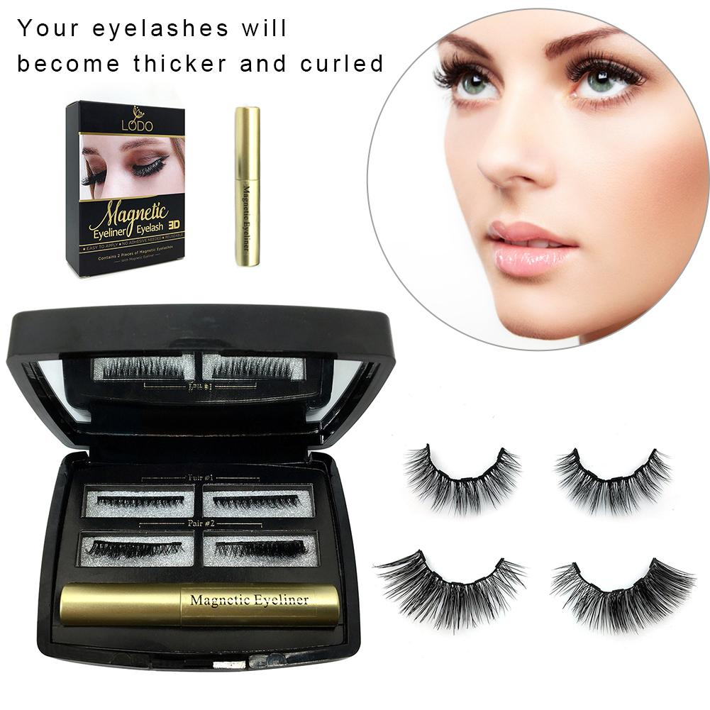 2019 hot eyeliner liquido magnetico magnetico cilios posticos definir secagem rapida facil de desgaste de longa