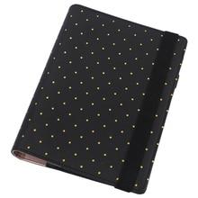 Faux Leather Filofax Organizer Polka Dot Gorgeous Loose Leaf Spiral Planner agenda notepad A5 A6 цены онлайн