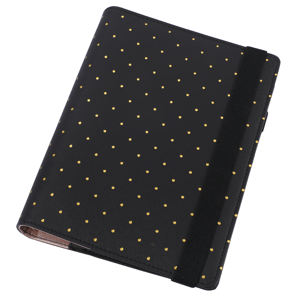 Harphia A5 A6 Strap Planner Binder Loose Leaf Notebook Spiral Planner Agenda Notepad Personal Organizer with Extra Free Gifts polka dot a5 zip binder loose leaf notebook spiral organizer agenda with all accessories free gift limited edition from harphia