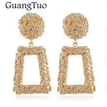 0dc6654e8 EK849 New Punk Heavy Metal Dangle Drop Earring 2018 Gold Color Geometric  Statement Earrings For Women Jewelry Female Accessories