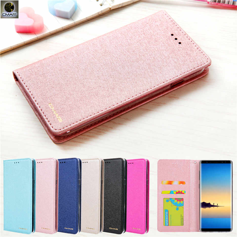 3b49e2c13ff For Samsung Galaxy S7 Edge Case Silk Leather Magnetic Flip Wallet Phone  Cover For Samsung Galaxy