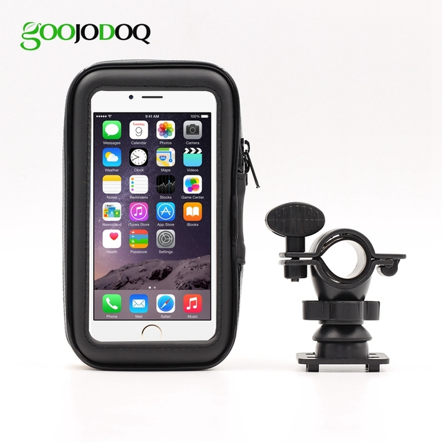 quality design c65fd 9378c US $6.95 25% OFF|Bicycle Bike Motorcycle Cell Mobile Phone Holder for  iPhone X 8 7 6 6s 360 Degrees Waterproof Case Bag Mount Handlebar Stand-in  ...