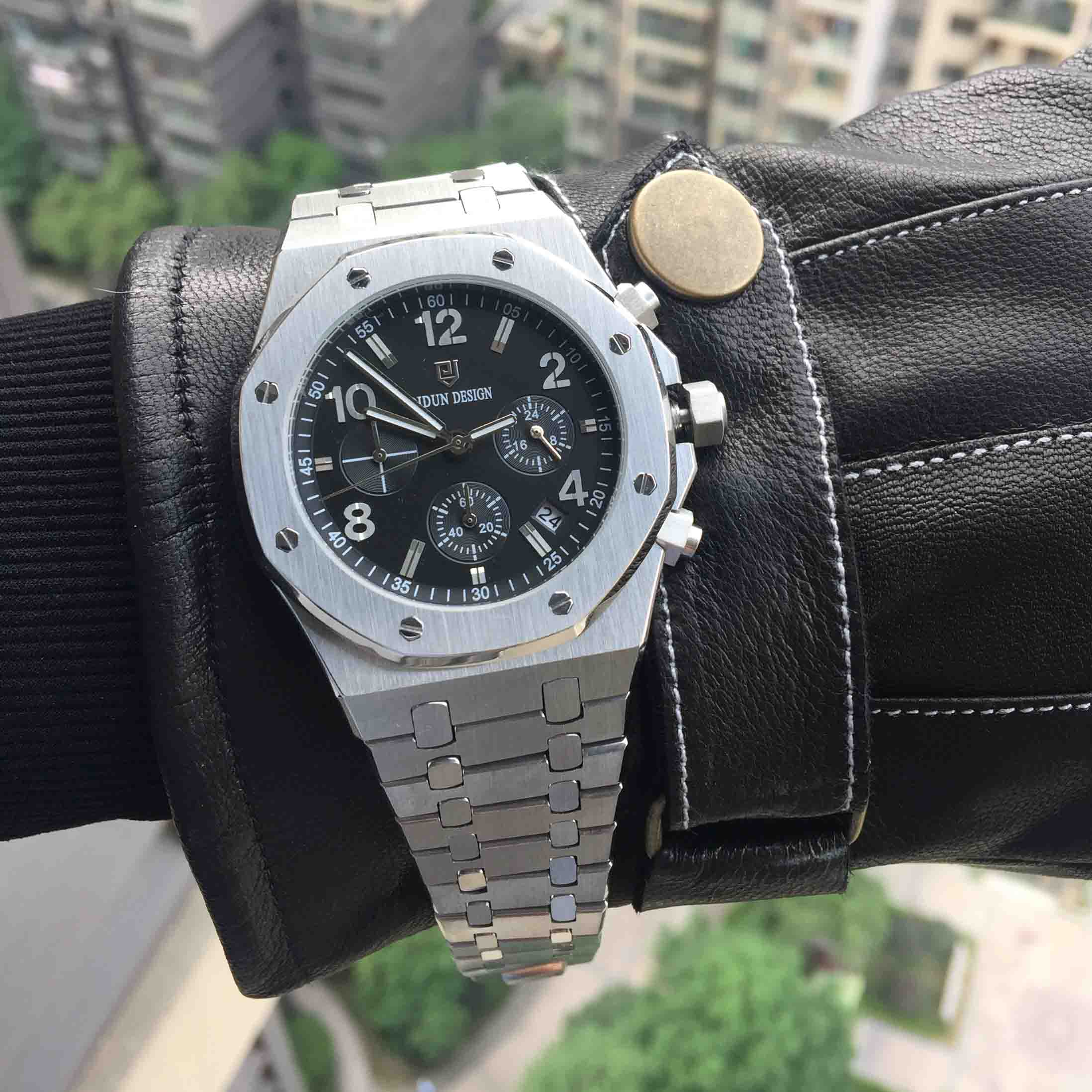 Montres hommes Top marque montre de sport de luxe homme montre à Quartz militaire chronographe analogique Date horloge en acier montre-bracelet