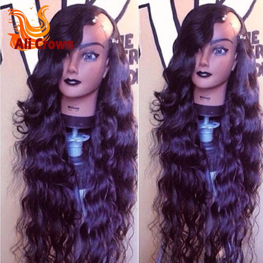 10A Human Hair U Part Wigs For Black Women Top Quality Long Wavy U Part Wig Brazilian Hair Custom Made Perruques Human Hair Wig (1)