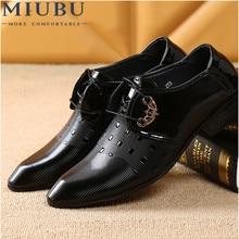 Miubu Oficina hombres vestido Zapatos boda italiano Hombre casual Zapatos  Oxfords traje Zapatos hombre pisos Zapatos de cuero Za. 287ad2ad4239