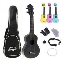 4 струны 21 дюймов Гавайские гитары укулеле полный наборы акустические Красочные Гавайи гитары ra инструмент для детей и музыка начинающих