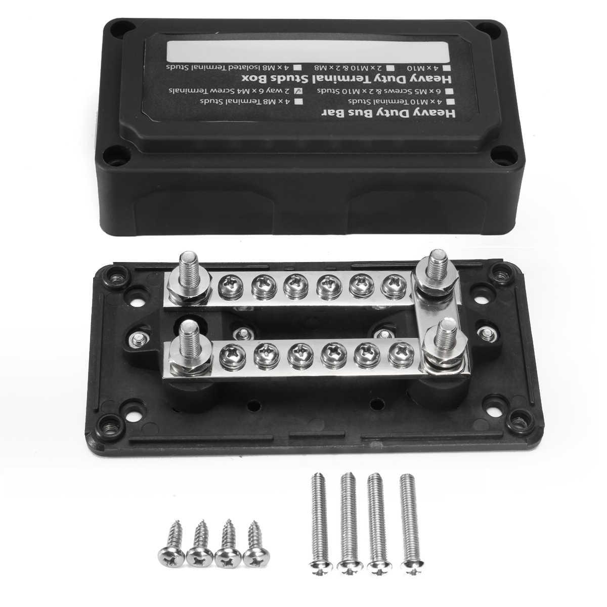 car blade fuse box block 48v heavy-duty modular design dual bus bars with  connecting