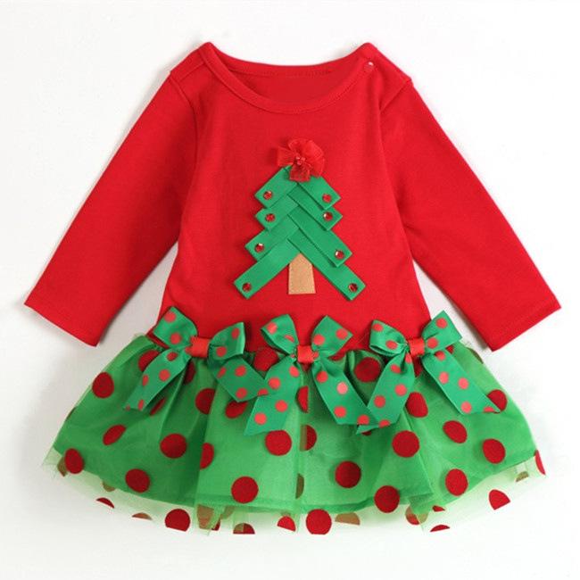 rbol de navidad nias vestido de la princesa fiesta de disfraces de puntos rojos de