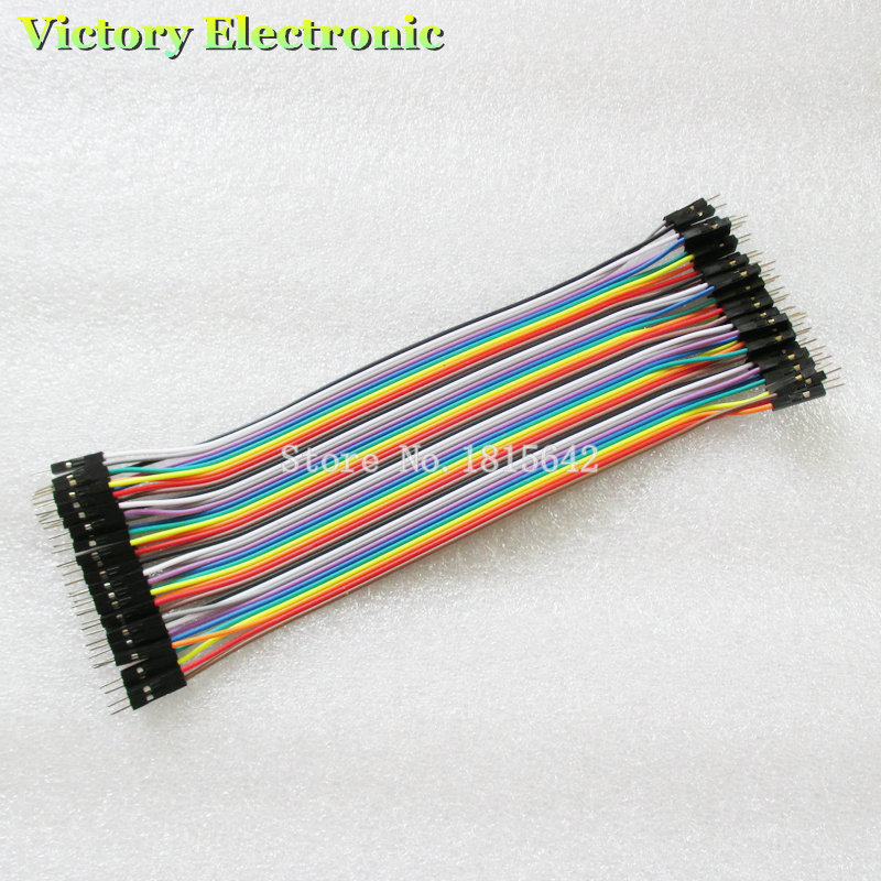 New 40pcs/1Row, 20cm 1P-1P Male To Male Jumper Wire Dupont Cable For Breadboard Wholesale Electronic