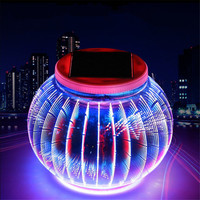 Newest Solar Powered Holiday Light 3D Illusion LED Solar Chinese Fairy Lamp For Outdoor Garden Lantern Yard Party Festival Decor