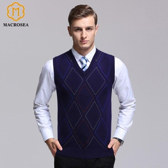 Aliexpress.com : Buy MACROSEA England Style Men's Knit Sleeveless ...