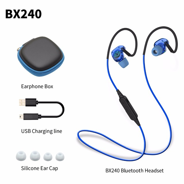 Plextone BX240 Deportes Estéreo Bluetooth Auriculares Auriculares Auriculares Impermeables Auriculares Inalámbricos con Micrófono Para Android iOS