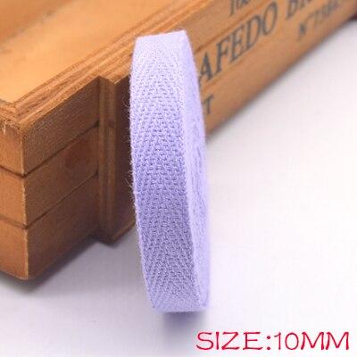 Новые цветные 10 мм шеврон хлопок ленты тесьма сельдь bonebinding ленты кружева обрезки для упаковки аксессуары DIY - Цвет: purple 501