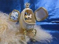 Merry-go-round Âm Nhạc Hộp Màu Xanh Mở Cửa Vỏ Trứng món quà Sáng Tạo Xoay Musical hộp món quà Giáng Sinh trẻ em gái phụ n