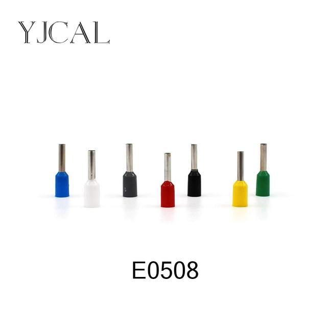 1000pcs/Pack E0508 Insulated Cord End Terminal Crimp