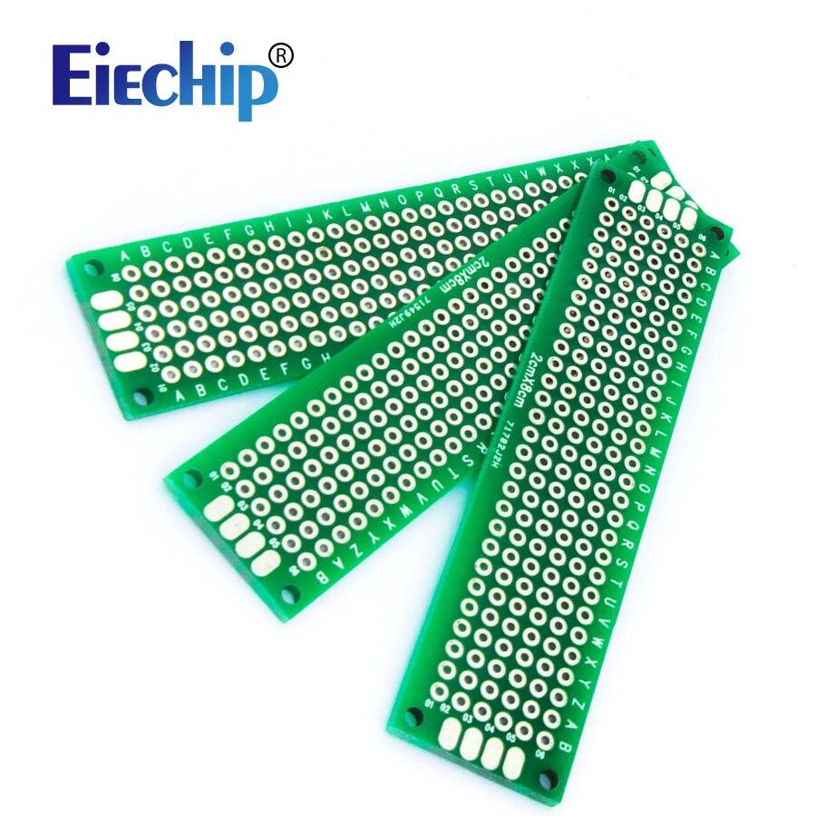 5pcs/lot  Double Side Prototype PCB diy Universal Printed Circuit Board 2x8cm