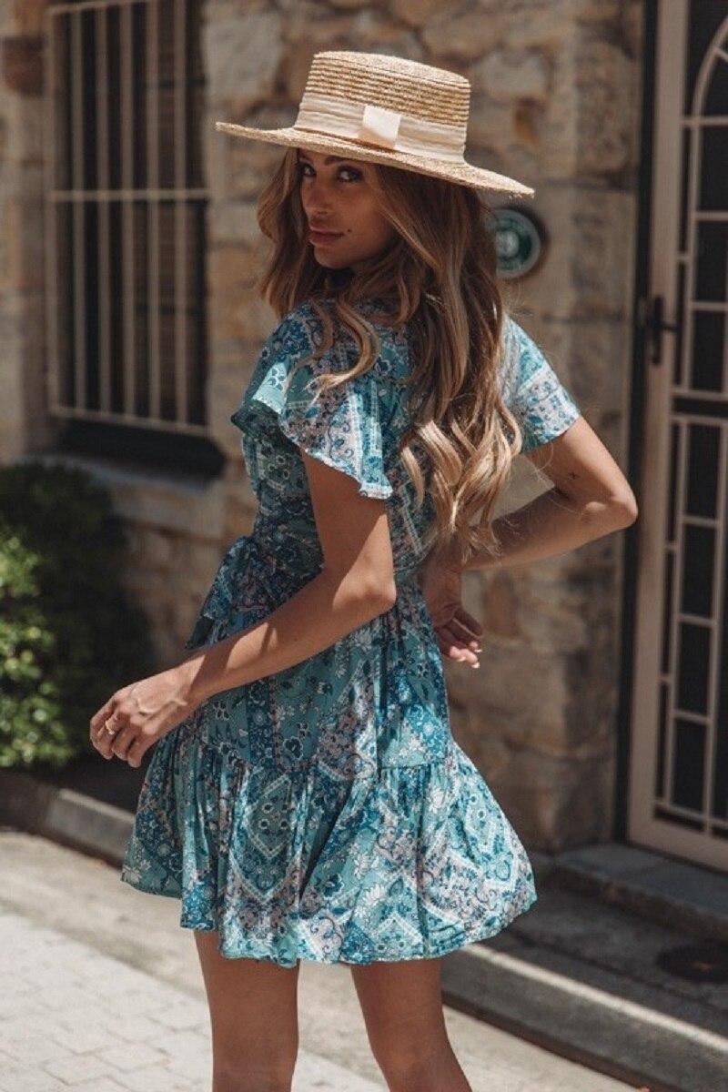 w75949-18_dress_bluepaisley-5_1 vieunsta vintage floral imprimir praia vestido de verão das mulheres novas com decote em v plissado uma linha de mini vestido elegante vestido plissado vestido de verão cinto - HTB1pQ6NaIvrK1Rjy0Feq6ATmVXaW - VIEUNSTA Vintage Floral Imprimir Praia Vestido de Verão Das Mulheres Novas Com Decote Em V Plissado Uma Linha de Mini Vestido Elegante Vestido Plissado Vestido de Verão Cinto